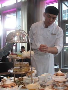 Chef describing afternoon tea